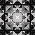 Seamless Geometric Pattern, Black And White Simple Vector Backgr Stock Images - 47126744