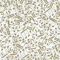 Vector Light Dotted Music Seamless Pattern With Musical Notes On Royalty Free Stock Photo - 47129365