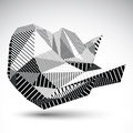 Decorative Distorted Unusual Eps8 Figure With Parallel Black Lin Stock Photo - 47132140