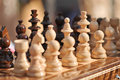Black And White Chess Pieces On A Chessboard, Closeup. Set Of Chess Figures On The Playing Board Stock Images - 47132694