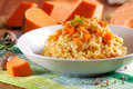 Pumpkin Risotto On The Plate Royalty Free Stock Photos - 47138638