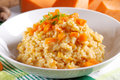 Pumpkin Risotto On The Plate Royalty Free Stock Photography - 47138667