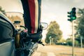 Motorcyclist On The Road Royalty Free Stock Images - 47138889