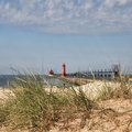 Grand Haven Lighthouse Michigan Stock Images - 47149084