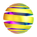 Golden Ornament Ball Decorative Sphere Stock Photography - 47149962