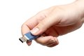 USB Flash Drive In Hand Royalty Free Stock Image - 47151206