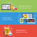 Flat Business Analysis Analytics Management Research Infographic Stock Photography - 47155582