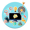 Concept Of Mobile And Web Services, Applications Royalty Free Stock Photography - 47156897