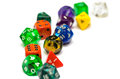 Multiple Colorful Role Playing Dices Lying On  Backgroun Stock Photography - 47179042
