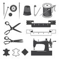 Set Of Sewing Desinged Elements Stock Photos - 47180813
