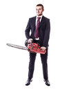 Chainsaw Businessman Royalty Free Stock Images - 47184949
