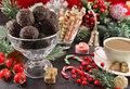 Festive Christmas Table With Sweet Dessert Stock Photo - 47185170