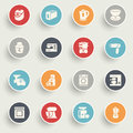 Home Appliances Icons With Color Buttons On Gray Background. Royalty Free Stock Image - 47185686