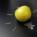 Apple Over The Blackboard Stock Images - 47194214