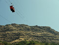 Cable Car To Fort Stock Image - 47198861