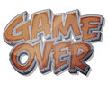 Game Over Wooden Icon For Ui Game Royalty Free Stock Photo - 47205845