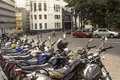 Motorcycles Parking Royalty Free Stock Photography - 47215287