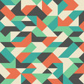 Vintage Seamless Pattern With Colorful Rhombuses. Royalty Free Stock Photography - 47236177