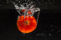 Tomato Falling In Water Stock Images - 47238144