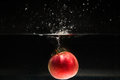 Apple Falling In Water Royalty Free Stock Image - 47238156