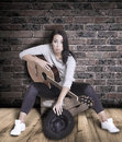 Female Busker. Stock Photography - 47242772