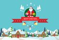 Santa Claus On Christmas Greeting Card Holding Stock Photography - 47247812