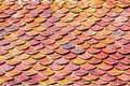 Brick Roof Tiles Royalty Free Stock Photography - 47250267