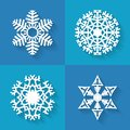 Set Of Flat Snowflakes Icons, Vector Illustration Royalty Free Stock Image - 47259806