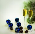 Two Champagne Glasses Royalty Free Stock Photography - 47264277