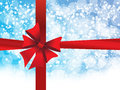 Blue Holiday S Background With Red Bow Stock Photos - 47266113