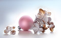 Hydrangea And Pink Christmas Sphere Stock Photography - 47267162