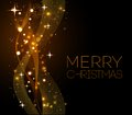 Merry Christmas Gold Greeting  Card With Royalty Free Stock Image - 47286126