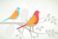 Birds On A Branch Royalty Free Stock Photography - 47292417