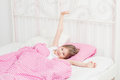 Young Girl Wakes Up Royalty Free Stock Images - 47313119