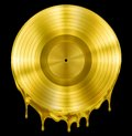 Gold Molten Or Melted Record Music Disc Award Stock Image - 47318381