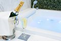Champagne And Jacuzzi Spa Stock Images - 47322124