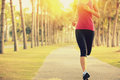 Runner Athlete Running At Tropical Park. Woman Fitness Sunrise Jogging Workout Royalty Free Stock Photo - 47323265