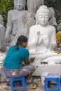 Sculptor In Myanmar Royalty Free Stock Photography - 47340937