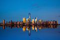 Manhattan Skyline From Jersey Royalty Free Stock Images - 47341039