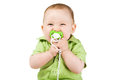 Little Happy Boy With Nipple Royalty Free Stock Image - 47350046