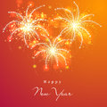 Happy New Year 2015 Celebration With Fireworks. Royalty Free Stock Photos - 47354208