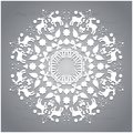 Circle Ornament, Round Ornamental Geometric Pattern, Christmas Snowflake Decoration Stock Images - 47356784