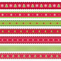 Red Green Christmass Ribbons Royalty Free Stock Photos - 47364348