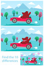 Kids Puzzle - Spot The 10 Differences Royalty Free Stock Images - 47367629