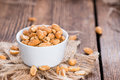 Small Bowl With Peanuts Royalty Free Stock Photos - 47371248