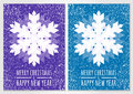 Abstract Vector Snowflake With Winter Snow Background. Christmas Royalty Free Stock Photography - 47373987