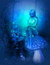 Moonlight Fairy Royalty Free Stock Images - 47377429