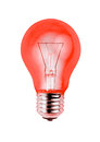 Red Light Bulb Isolated On White Background Royalty Free Stock Photos - 47377848