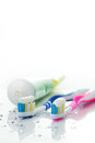 Toothbrushes And Toothpaste Stock Photo - 47381470