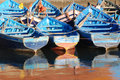 Blue Moroccan Fishing Boats Royalty Free Stock Photography - 4740637